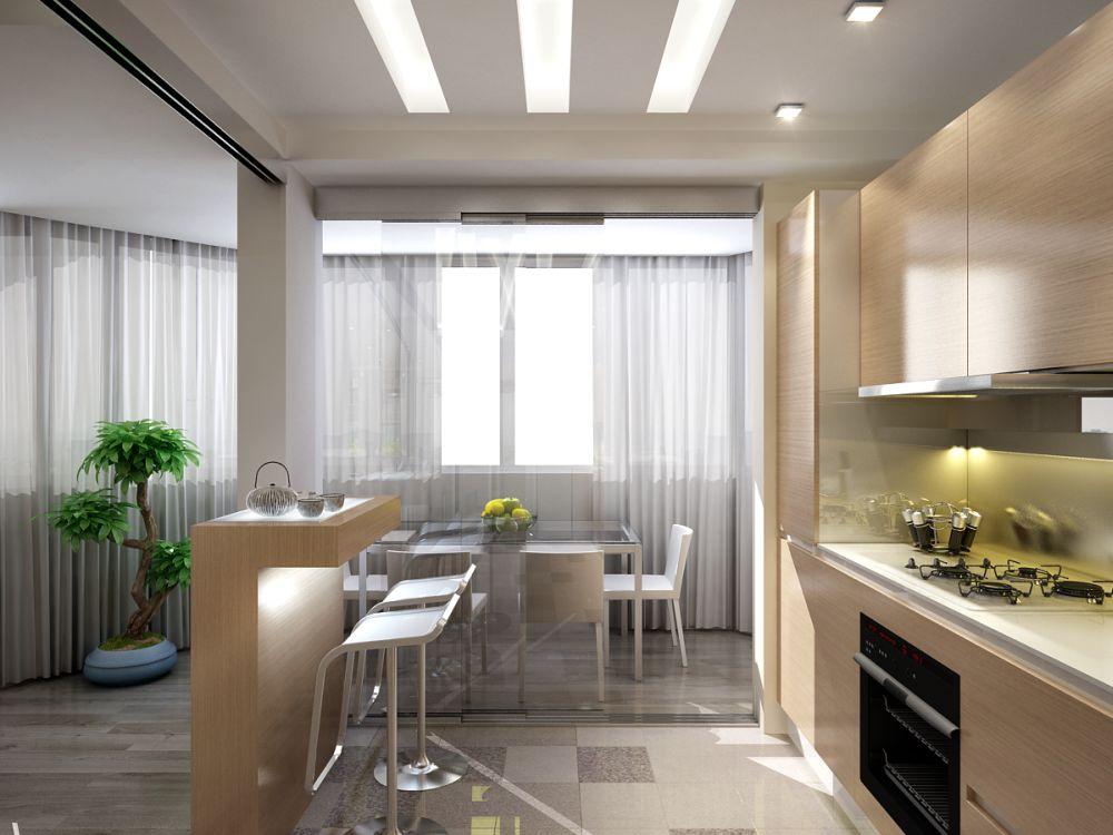 Освещение кухни столовой включает в себя несколько уровней освещения