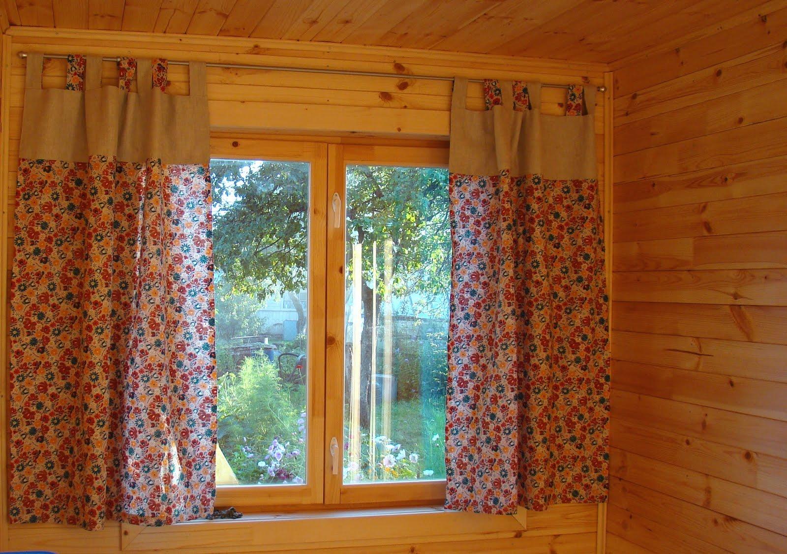 Дачные шторы своими руками фото