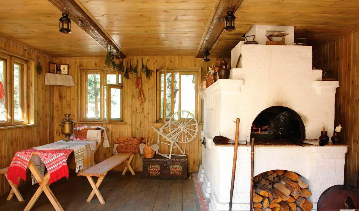 Интерьер деревенского дома внутри фото