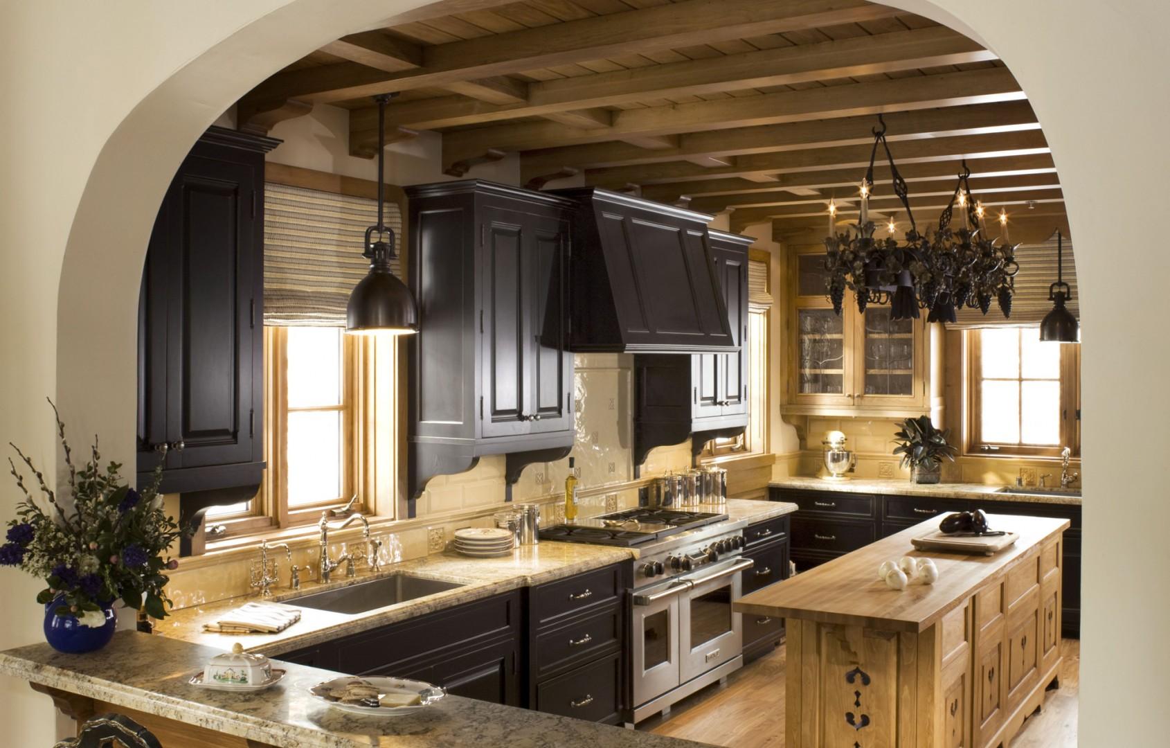 Стиль шале в интерьере кухни