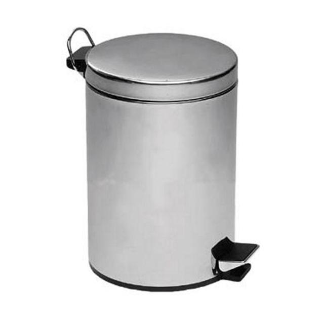Металлическое мусорное ведро с крышкой