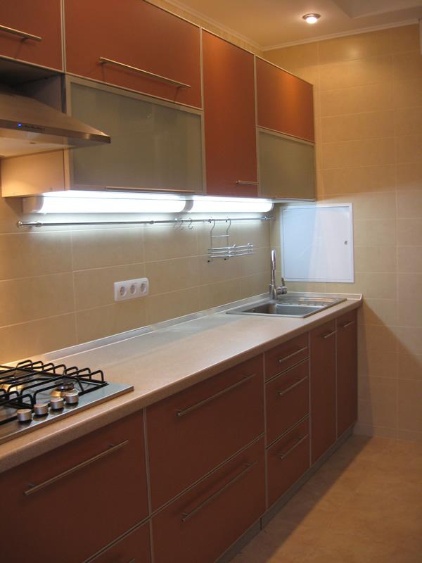 Локальное освещение позволяет осветить определенные зоны на кухне