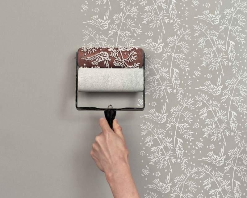 Декоративная покраска стены