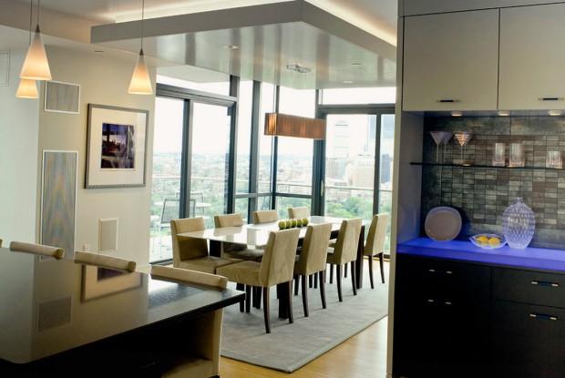 Многоуровневый потолок с дополнительной подсветкой