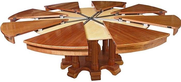 Необычный круглый стол трансформер