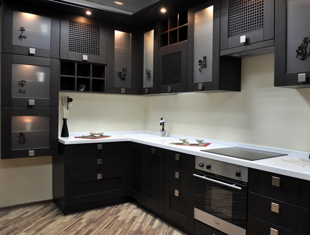 Кухня декорированная в восточном стиле