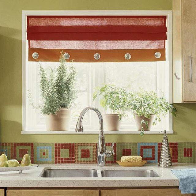 Декоративные шторы на окно