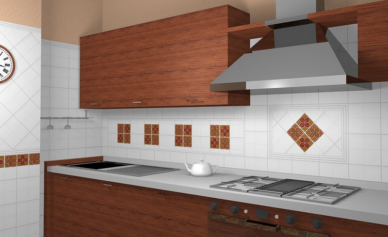 Декорирование кухонного фартука