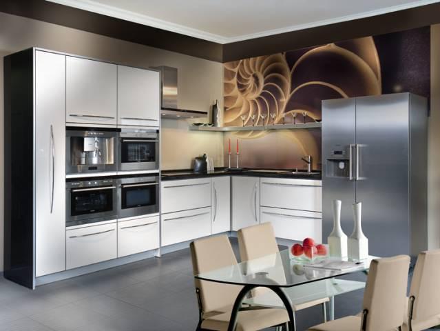 Встроенная техника в едином дизайне с кухней