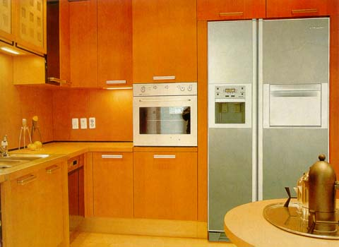 Встраиваемая техника позволяет создать единое дизайнерское пространство на кухне