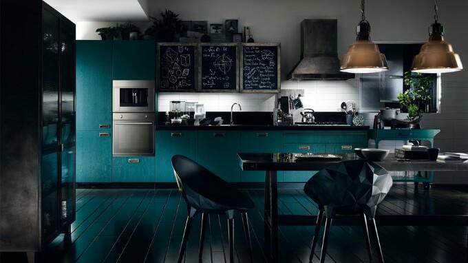 Встроенная техника на кухне в стиле фьюжен