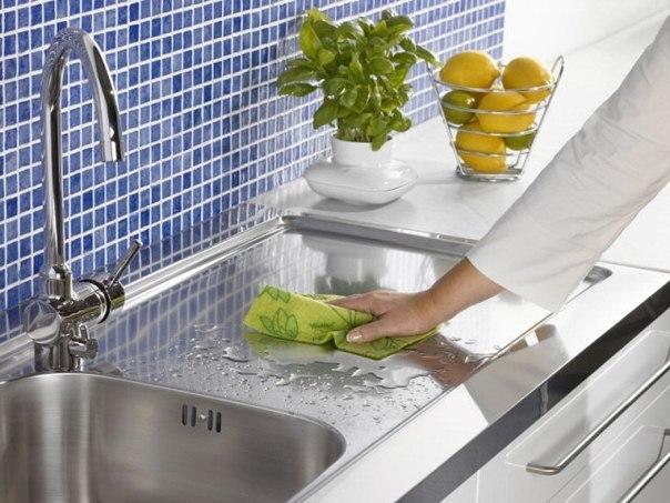 Навести идеальную чистоту на кухне без труда и затрат помогут народные средства
