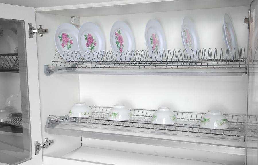 Сушилки, встроенные в шкафы, популярны среди современных интерьеров кухонь