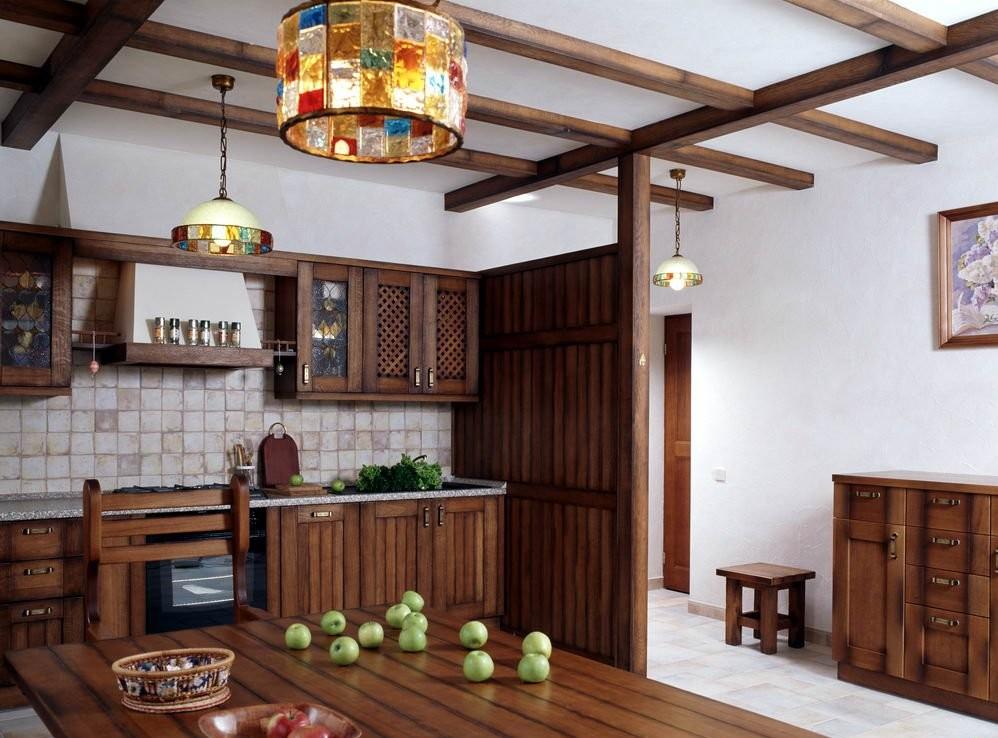 Комбинированная отделка кухни