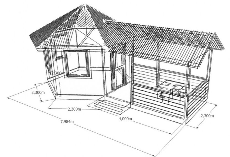 Проект летней кухни для загородного участка.