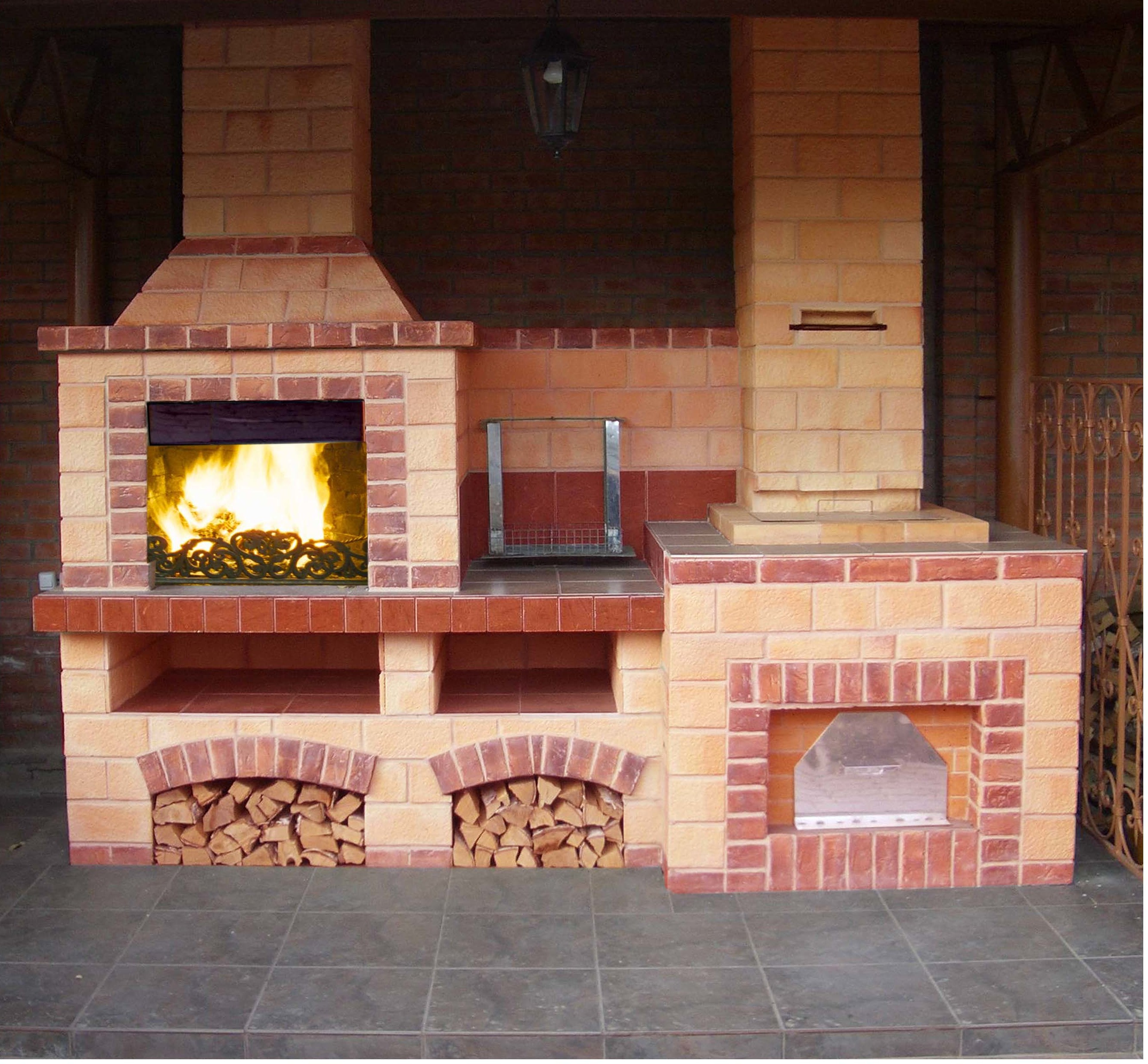 Печь-барбекю для летней кухни электрокамин очаг портал dimplex verona cfp3798wn