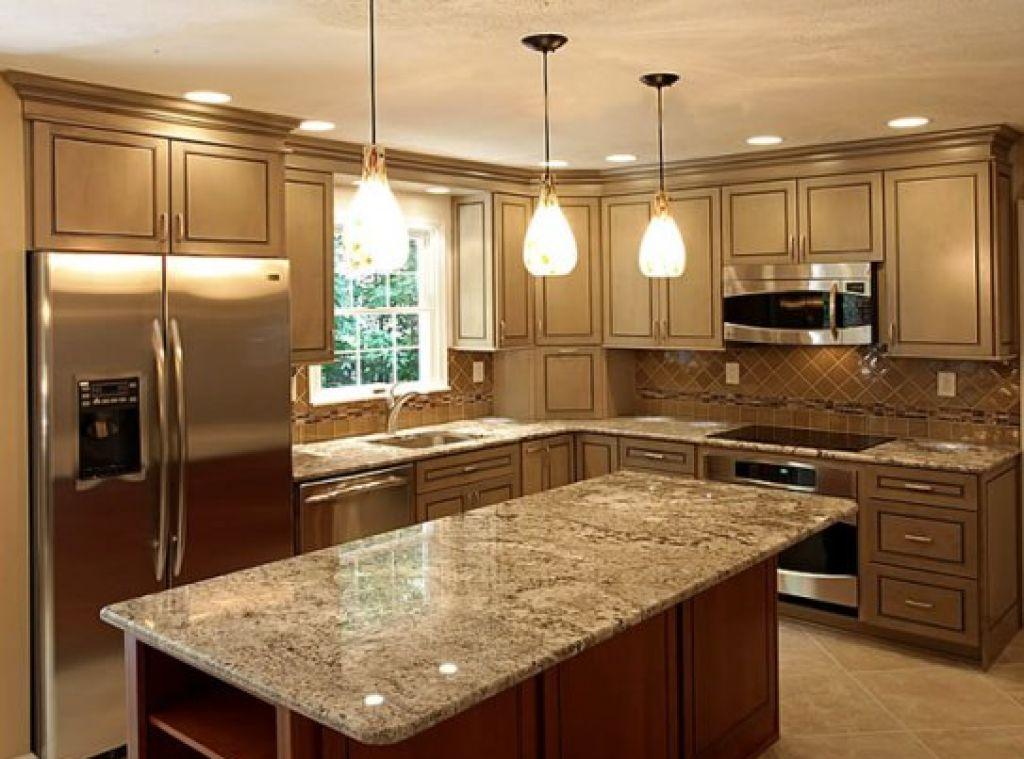 Светильники на кухне создают необычную атмосферу комфорта и привлекательности