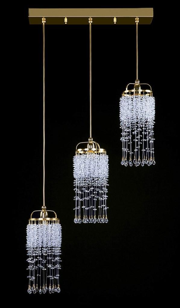 Хрустальные подвесные светильники поражают своей легкостью