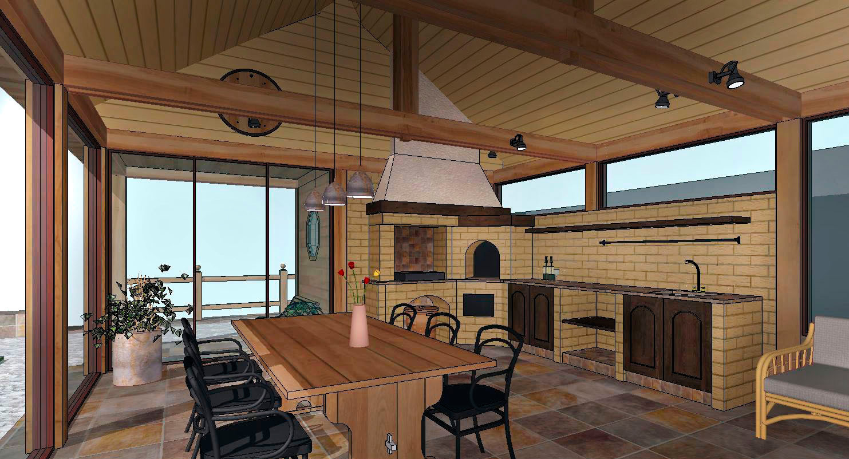 Проект летней кухни на даче