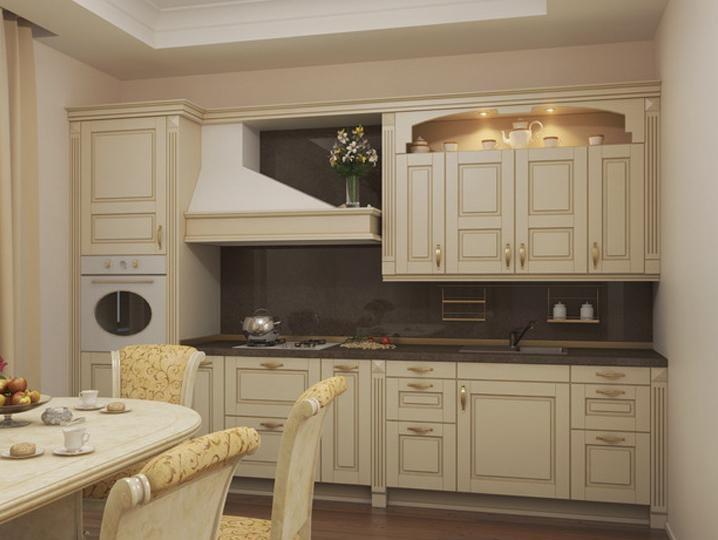 В классической кухне нет экспериментам, это строгий стиль оформленный в соответствии с сложившимися канонами.