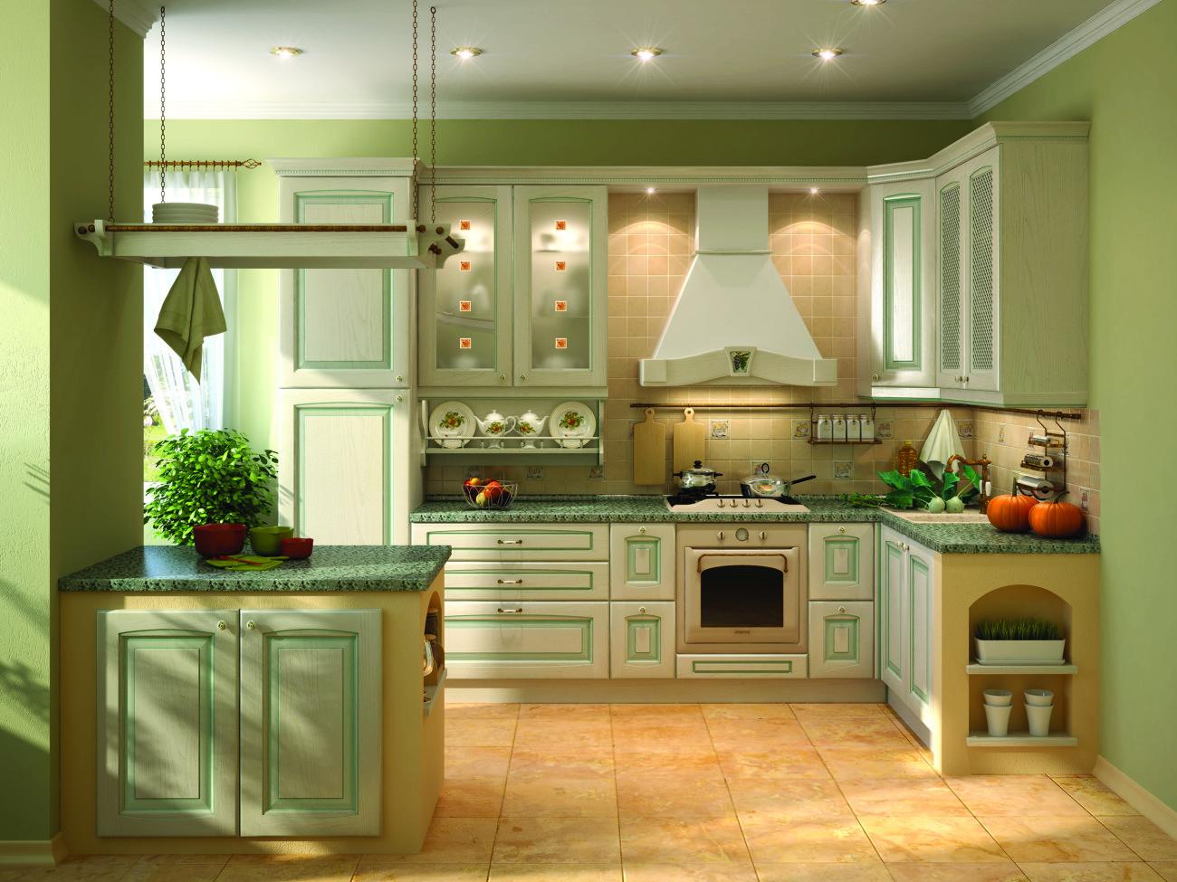 Стены на кухне должны быть выполнены идеально