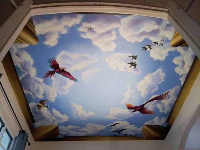 Фотообои на потолок это обед под открытым небом