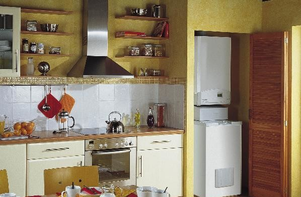 Газовый котел на кухне можно очень легко спрятать