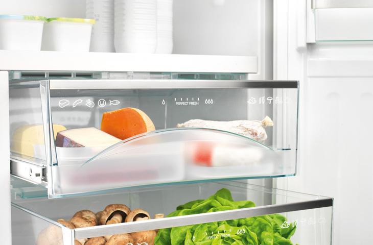 Стеклянные полки очень распространены в различных моделях холодильников