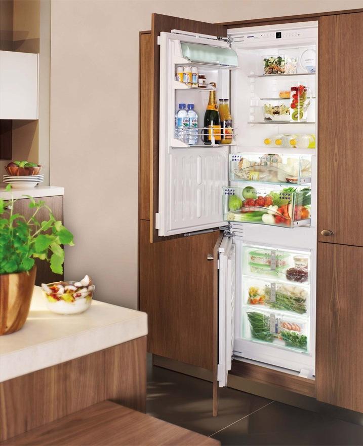 Полновстроеный холодильник для кухни