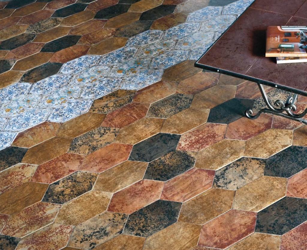 Испанская керамика в средневековом стиле смотрится эффектно на любой поверхности