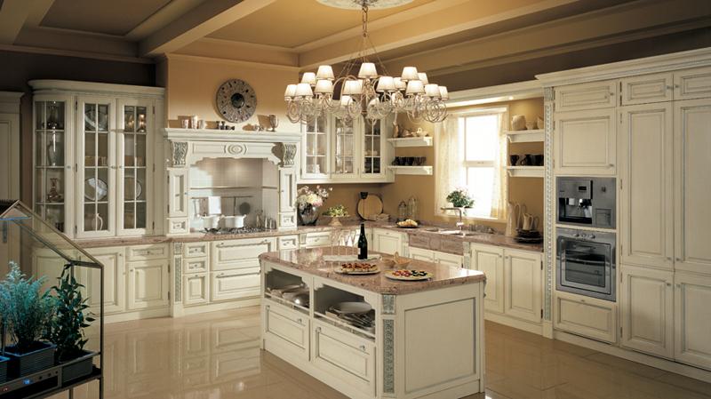 Элитная кухня-столовая в стиле прованс