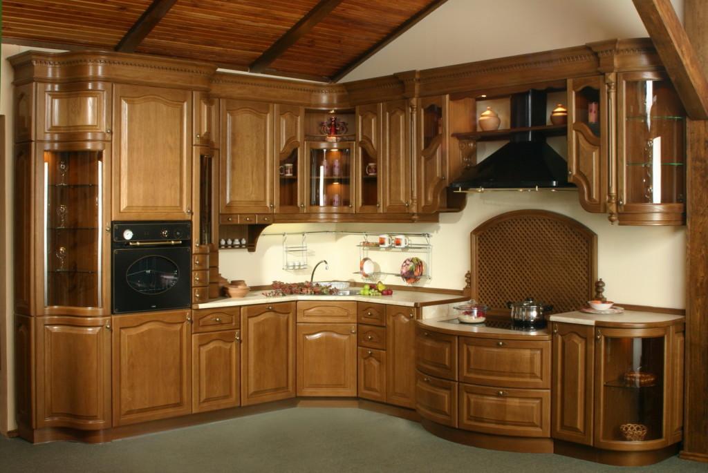 Деревянная элитная кухня