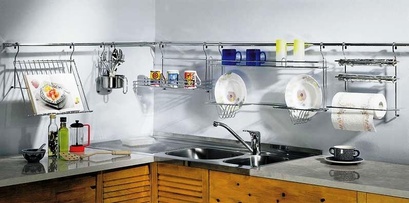 Рейлинг над рабочей зоной кухни