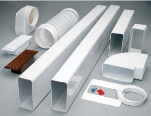 Комплект пластиковых труб для воздуховода