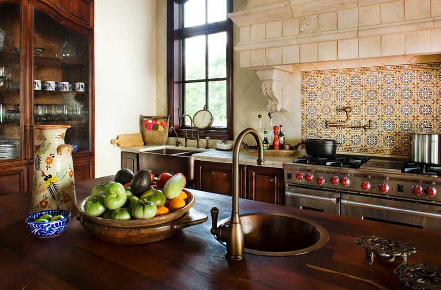 Интерьер и отделка кухни в средиземноморском стиле