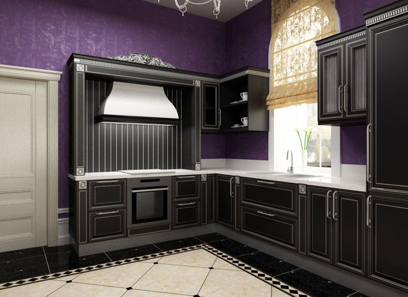 Арт-деко в отделке кухни использует натуральные дорогие материалы