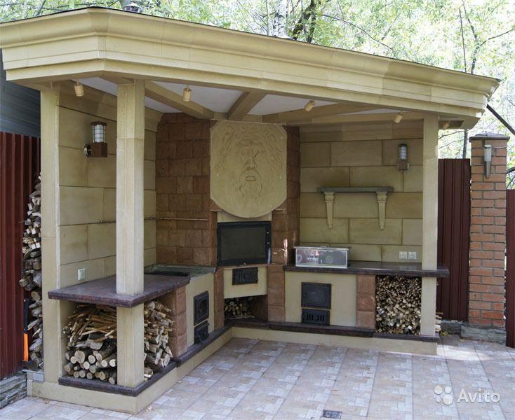 Кухня с дровяной печью
