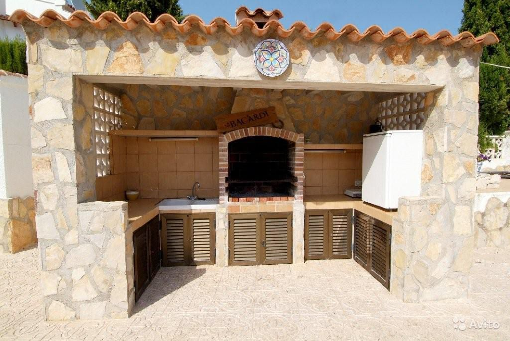 Летняя кухня из кирпича своими руками фото