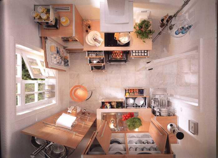 Планировка маленькой кухни в хрущёвке