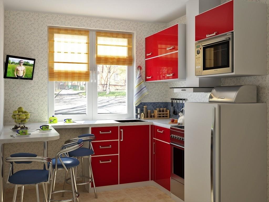 Линейная расставновка мебели на кухне