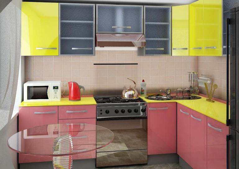 Вариант линейной планировки кухни