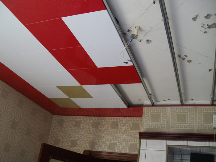 Процесс монтажа подвесного потолка