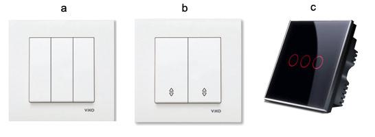 Современные выключатели: кнопочные, проходные, сенсорные.