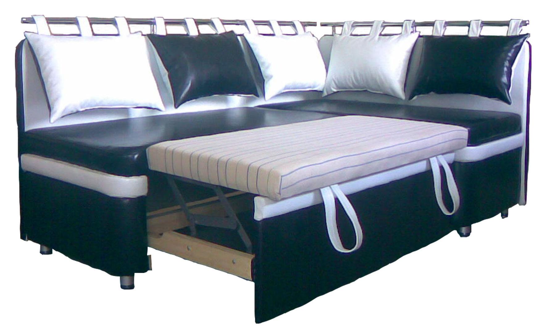 Угловой диван конструкции дельфин