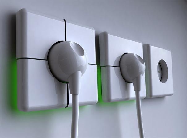 Розетки с подсветкой на кухне подойдут под современной дизайн