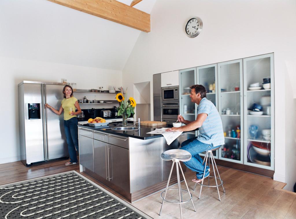 Тёплый пол на кухне
