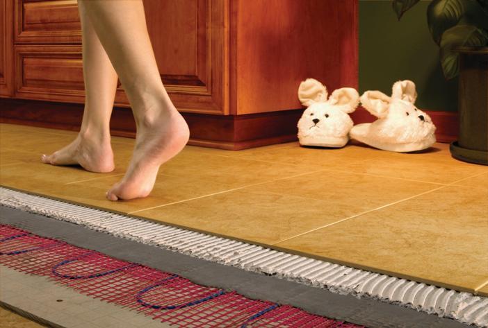 Тёплый пол под кафельной плиткой
