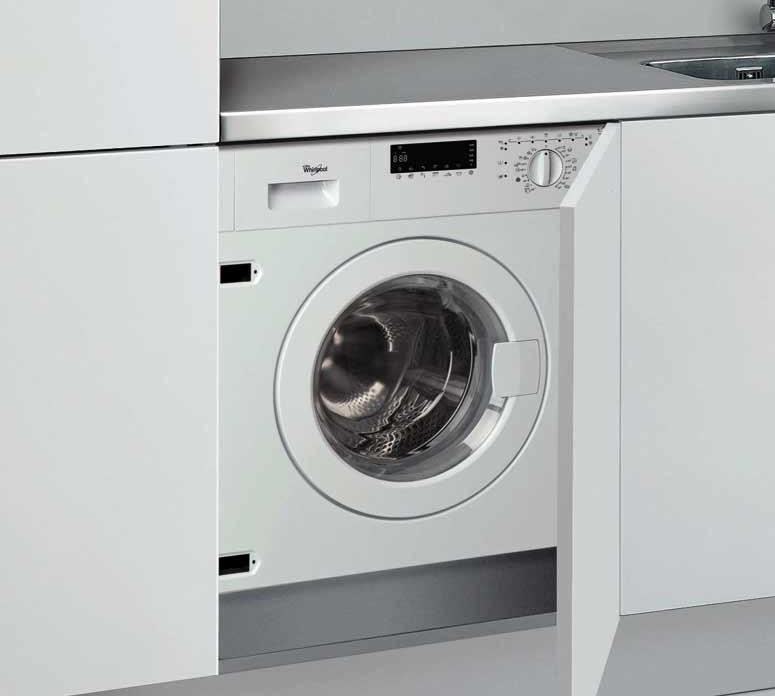 Встроенная стиральная машина на кухне – незаменимый помощник для любой хозяйки.
