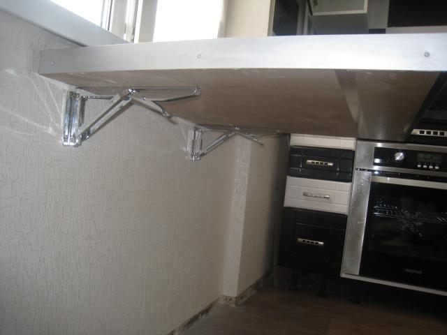 Откидная барная стойка для маленькой кухни
