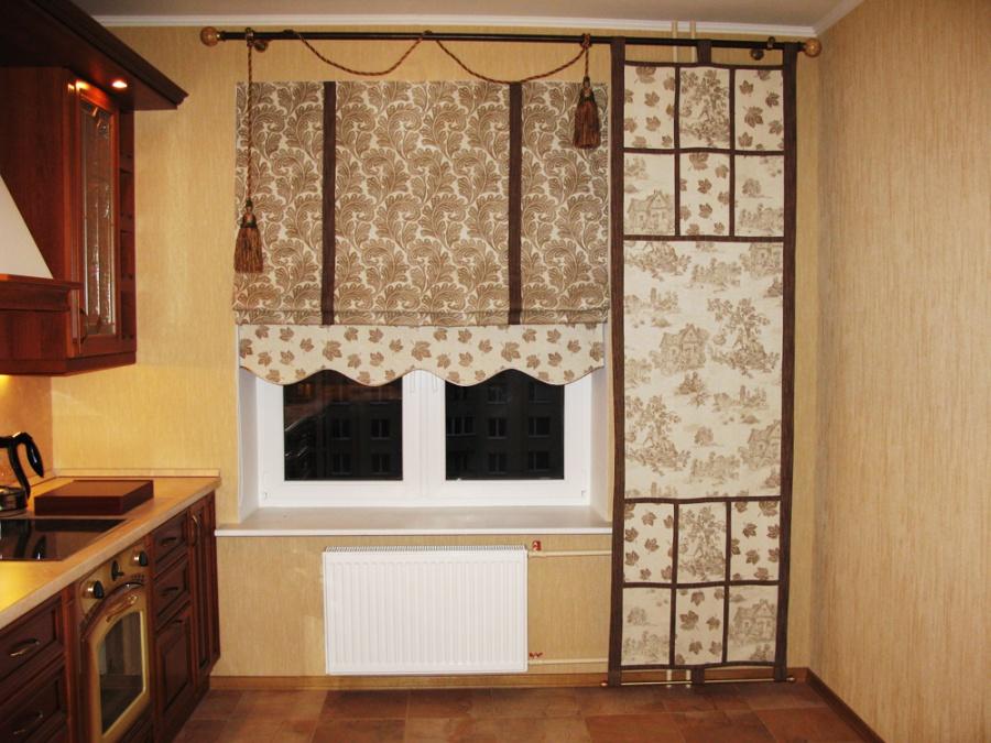 Готовые римские шторы для кухни